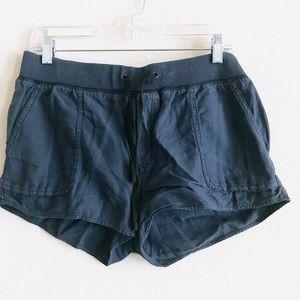 Aritzia Community Navy Blue drawstring mini shorts